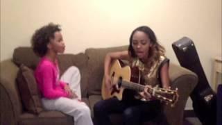"China Anne, sister Sierra & Quvenzhane' Wallis sing ""DYNAMITE""!"