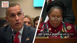 Trump Can't 'Hide Behind You Any Longer':  Rep. Sheila Jackson Clashes With Corey Lewandowski