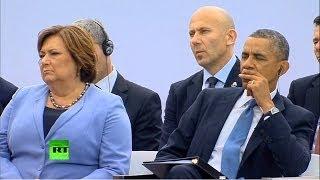 Барак Обама уснул под речь президента Польши
