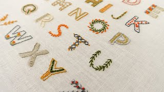 26 Hand Embroidery Letters For Beginners | Top Stitches In Hand Embroidery