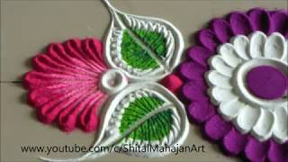 Super Easy, Small and Quick Border Rangoli Design|Creative Rangoli by Shital Mahajan