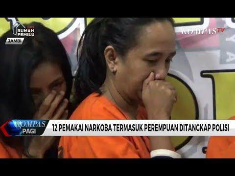 12 Pemakai Narkoba di Jambi Ditangkap Polisi
