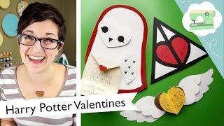 Harry Potter Valentines Tutorial - Make three cute DIY cards! | @laurenfairwx