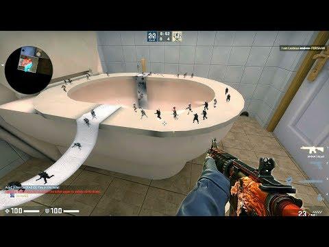 CS:GO · Zombie Escape Mod: ze_Bathroom_v2_5 · SG Server