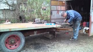 Rucna izrada prikolice za traktor