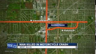 19-year-old man killed in motorcycle accident in West Allis