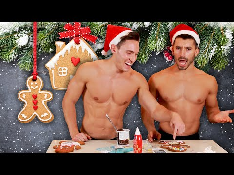 Male Models Decorate Their Ideal (Gingerbread) Men
