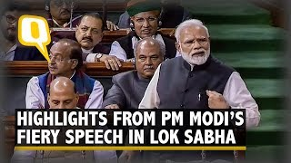 Highlights From PM Modi's Last Speech in Lok Sabha Ahead of 2019 Polls | The Quint