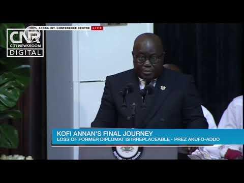 Nana Akufo-Addo's tribute to Kofi Annan