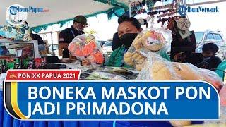 Meski Belum Resmi Dibuka, Boneka Maskot PON XX Papua di Timika Jadi Primadona