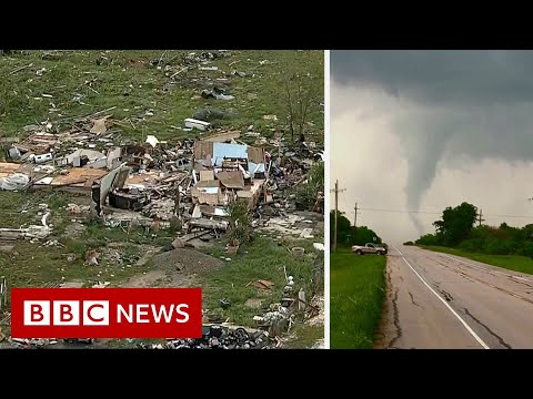 US storms: Hail, tornadoes and flash floods wreak havoc - BBC News