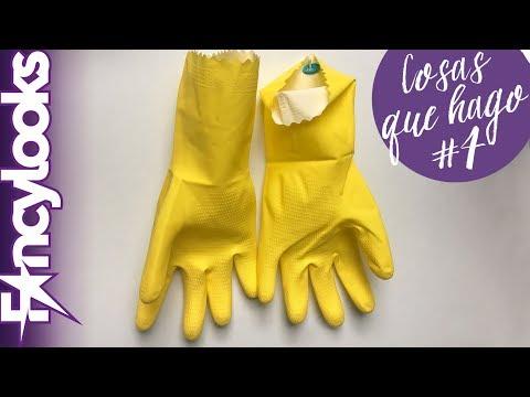 Cómo colgar guantes de fregar para que no huelan mal (Cosas que hago #4)