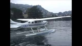 Sightseeing seaplane flight over Lake Como