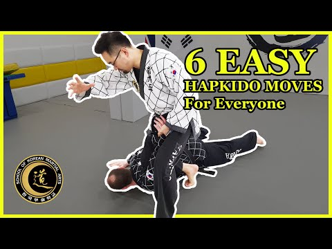 6 Easy Hapkido Moves For Everyone | Pre-Emptive Attacks (Tutorial ...