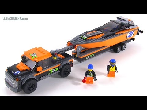 LEGO City 2015 4×4 + Powerboat review! set 60085