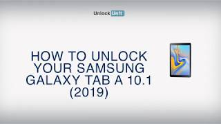 HOW TO UNLOCK Samsung Galaxy Tab A 10.1 (2019)