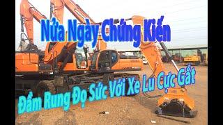 Đầm rung thủy lực lắp xe Doosan