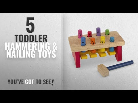 Top 10 Toddler Hammering & Nailing Toys [2018]: Melissa & Doug Deluxe Pounding Bench Wooden Toy