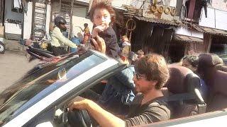 All Moments of Shahrukh Khan's CUTE Son AbRam Riding Car On Mumbai Roads