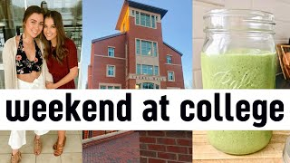 REALISTIC college weekend in my life at uncc | car cleanout, planning, meal prep + more