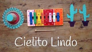 Cómo tocar Cielito Lindo con Xilófono |  Aprende canciones con xilófono