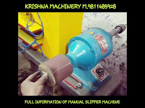 Manual Hawai Chappal Making Machine