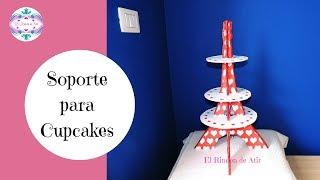 Soporte O Exhibidor Para Cupcakes - Torre Eiffel - Cupcakes Stand