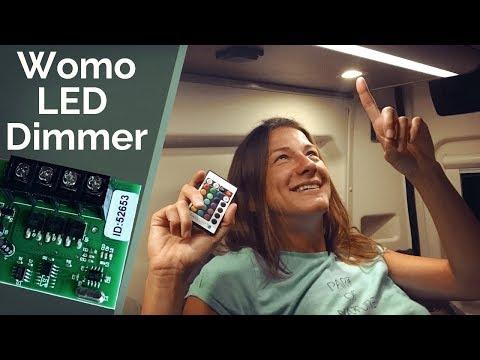 LED Dimmer & farbige Lichtleisten im Wohnmobil einbauen