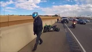 New Kawasaki 636 CRASH and TOW in Under 1 Minute! (Brake Fade)