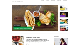 Millard Food Blog WordPress Theme Download Link