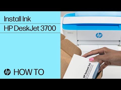 Installing Ink in the HP DeskJet 3700 Printer Series