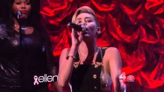 Miley Cyrus   Wrecking Ball (Live On The Ellen DeGeneres Show 2013)