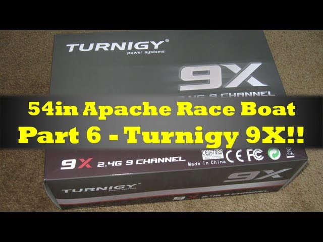 Turnigy 9x Mini Review - 54in Apache Race Boat Part 6