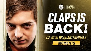 Worlds 2020 : « CLAPS IS BACK! » highlights et voicecooms du quart de finale des G2 Esports