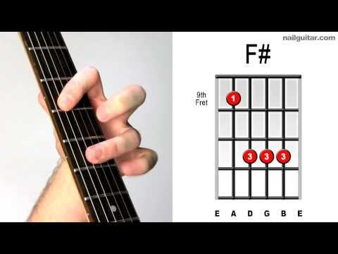 F# major ♫♫ Guitar Chord Tutorial - Learn Bar Chords Super Easy Lesson