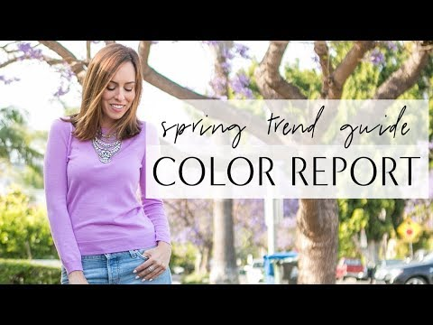 Spring Color Trends for 2018