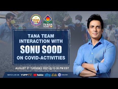 TANA team interaction with Sonu Sood