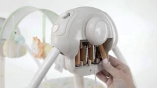 """Качели для новорожденных Ingenuity Soothe """"N Delight Portable Swing, Felicity Floral от компании Интернет-магазин """"Timatoma"""" - видео"""
