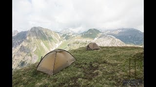 Zelte in den Bergen - Adventure Vlog 16 - Hilleberg Unna, Arcteryx Acrux AR, Helikon-Tex OTP