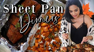 3 Easy Fall Sheet Pan Dinners! One Pot Meals #iHeartFall Ep. 16 MissLizHeart