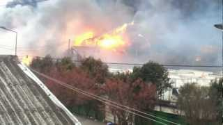 preview picture of video 'INCENDIE AUBERVILLIERS ENTREPOTS BOS'