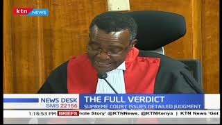 The Supreme Verdict: Chief Justice Maraga's final verdict