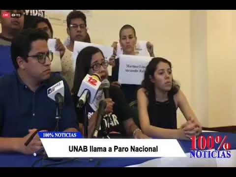 ULTIMA HORA: UNAB llama a Paro nacional