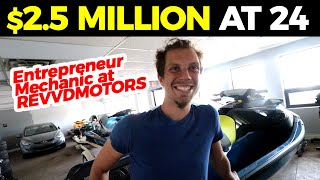 How to Start a Mechanic Shop at 24 worth $2.5 Million - Revvd Motors Tour with CEO Martin Bysiewicz