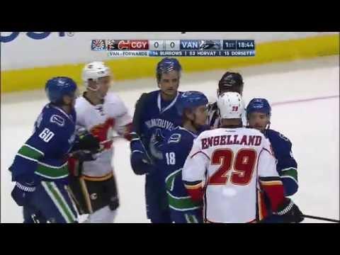 Oct.15/2016   Calgary Flames - Vancouver Canucks