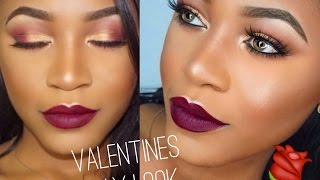 Easy Cranberry Valentine's Day Look For Hooded Eyes (Beginner Friendly)| Beauty With Vee ♡
