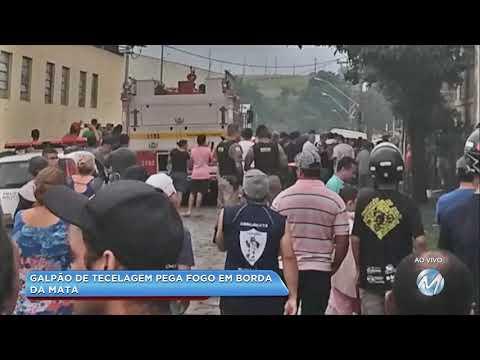 Galpão de tecelagem pega fogo em Borda da Mata, no Sul de Minas