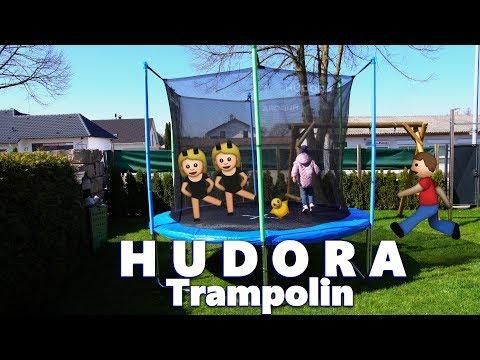 Hundora 🤸♀️Trampolin 300 cm - 🛠 Aufbauanleitung Spaß für GROß👨👩👧👦 KLEIN  bis 150 kg 🐘 BELASTBAR
