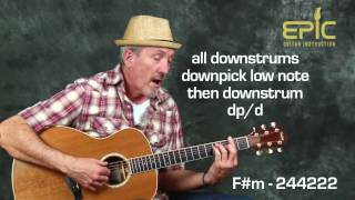 Learn country acoustic Willie Nelson On The Road Again guitar song lesson chords strum patterns