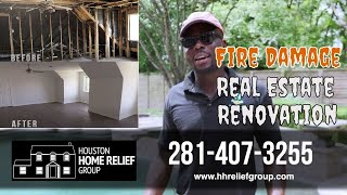 Fire Damage Real Estate Renovation | Before and After